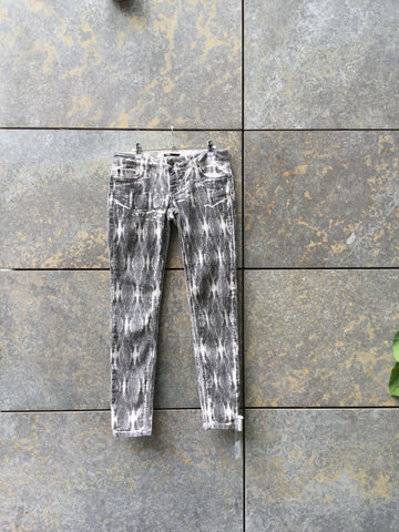 Black-White Denim Maje Slim Fit Jeans  Size 32/33