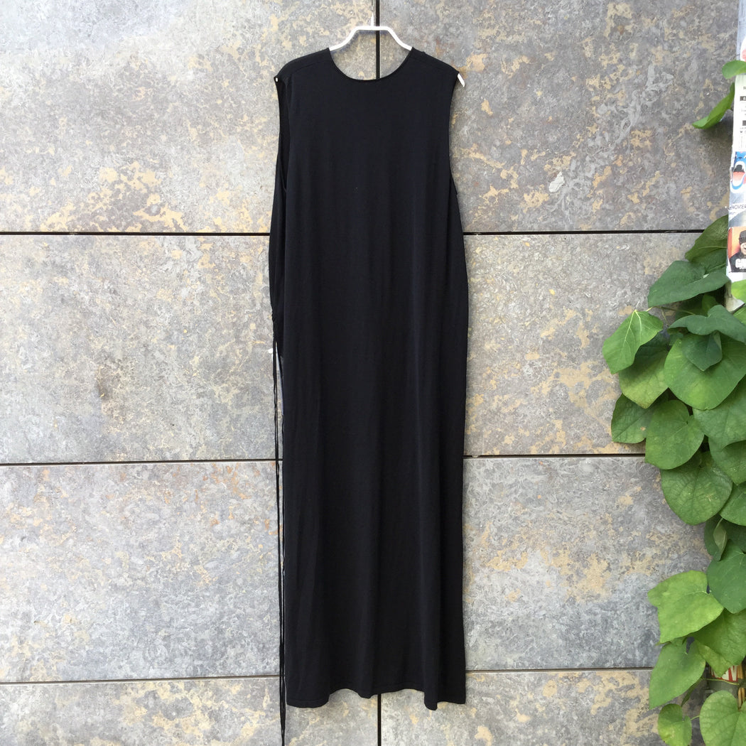 Black Cotton / Rayon Mix COS Top SS High Low Size M/L