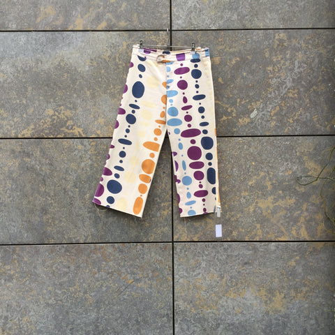 Colorful Denim Marni 3/4 Pants Raw Hem Size 26/27
