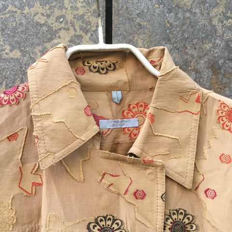 Sand Silk Mix Strenesse Blouse  Size S/M