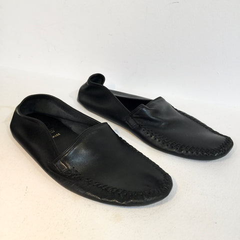 Black Leather Churchs Slippers  Size 39