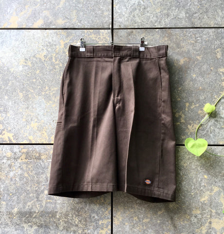 Brown Cotton Dickies Shorts  Size 34