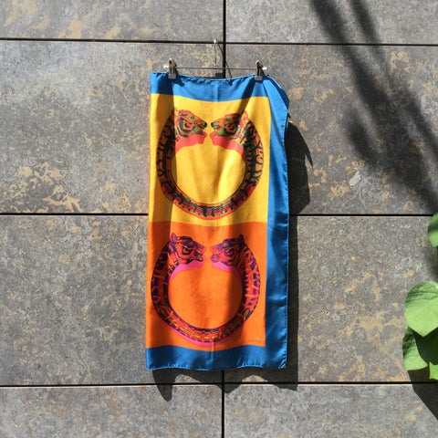Colorful Silk Cartier Scarf  Size Os