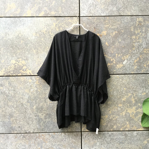 Black Wool Mix COS Layering Top Oversized Size S/M