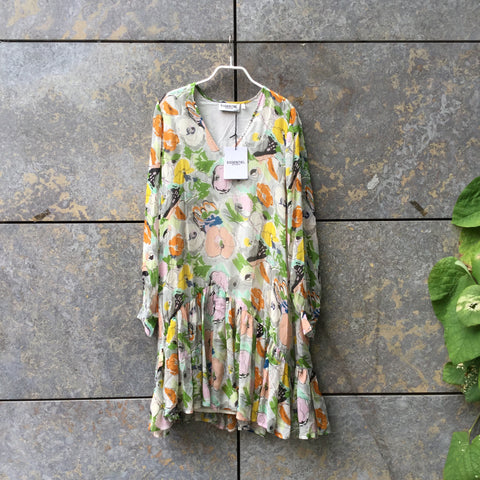 Straw-Colorful Rayon Essentiel Antwerp Dress Oversized Size XS/S