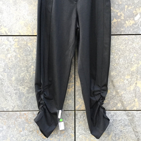 Black Wool Mix COS Trousers Ruched Size 34