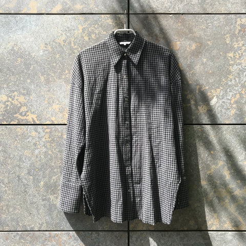 Grey-tones Cotton Mix Helmut Lang Shirt Oversized Sleeve Detail Size M/L
