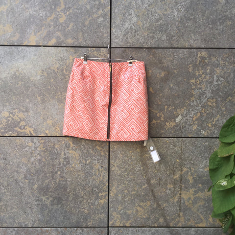 Pastel Pink-Peach Synthetic Contemporary Main Skirt Zippered Size 26/27
