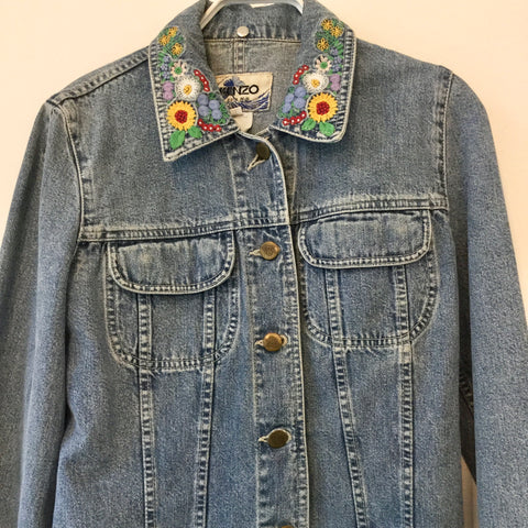 Cloudy Sea Denim Kenzo Jeans Jacket  Size S/M