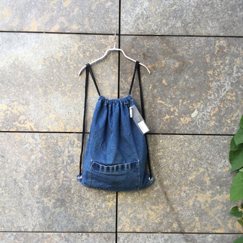 Navy Cotton Cheap Monday Drawstring Bag Draw String Pocket Detail