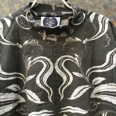 Black-White Cotton Independent Designer Shirt  Size Os