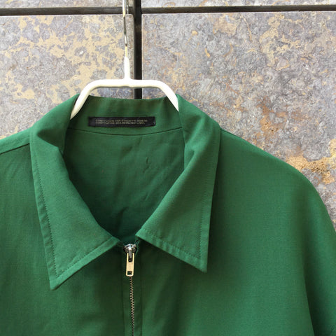 Hunter Green Cotton Yohji Yamamoto Zip Jacket  Size M