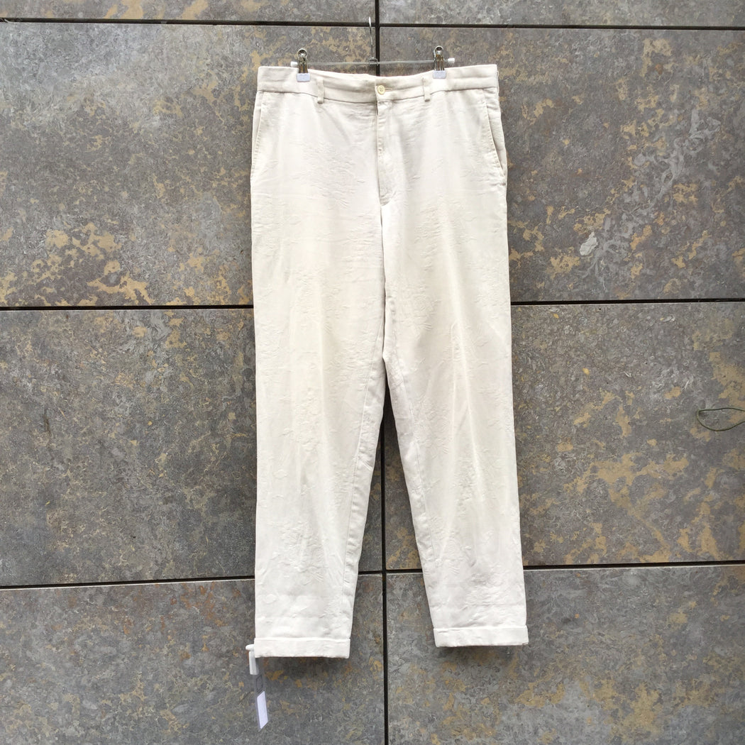 Antique White Cotton Mix Comme des Garcons - Homme Trousers  Size 34