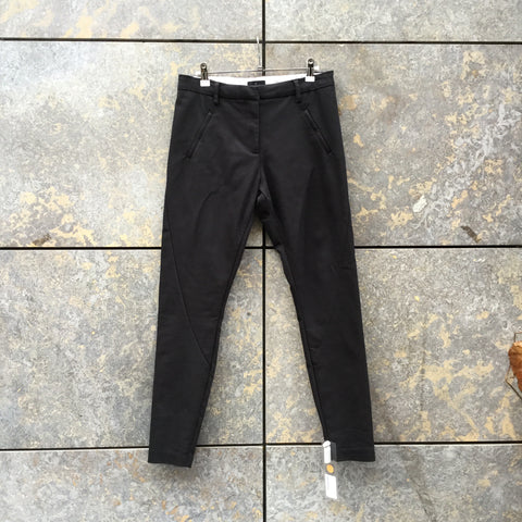 Black Cotton Mix Five Units Trousers Conceptual Detail Size 29/30