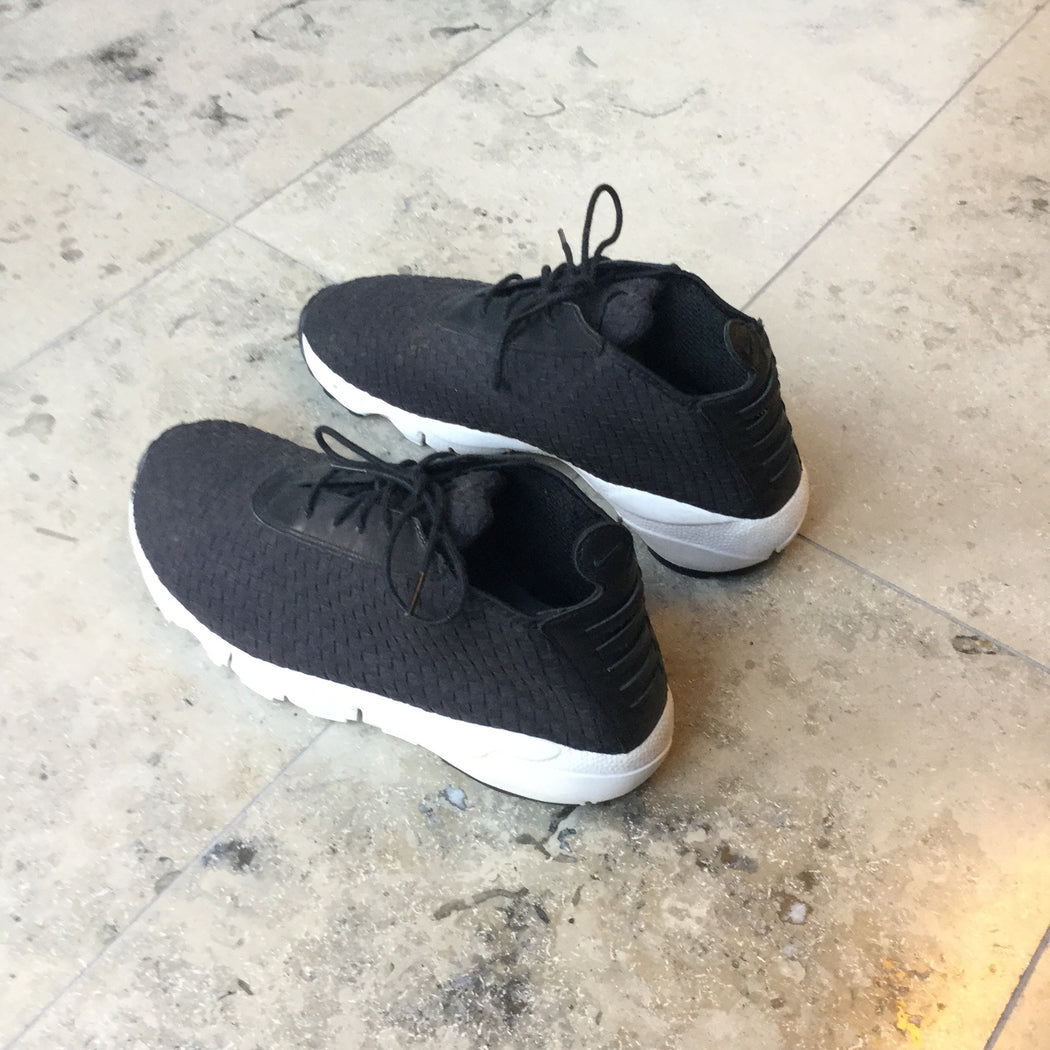 Black Leather/synthetic Mix Nike Shoes High-tops  Size 44