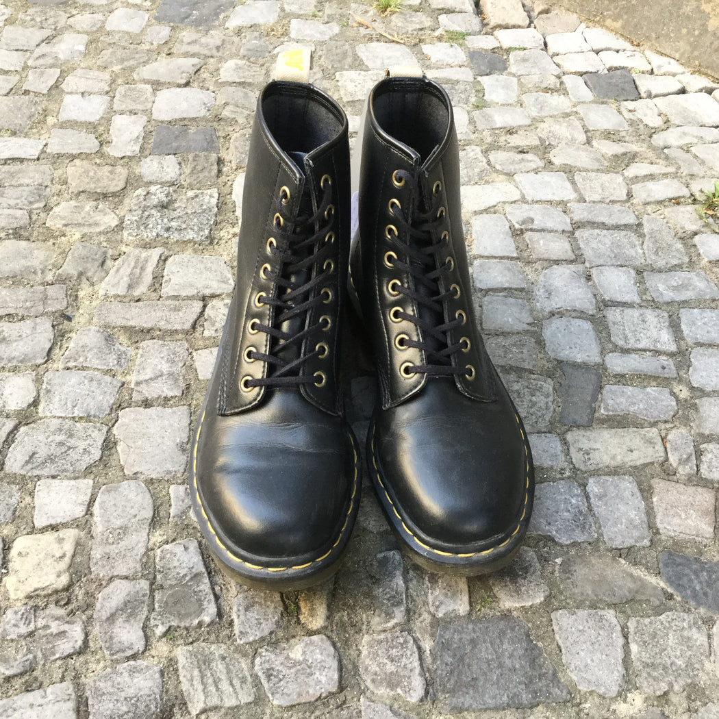 Black Leather Dr. Martens Boots  Size 10