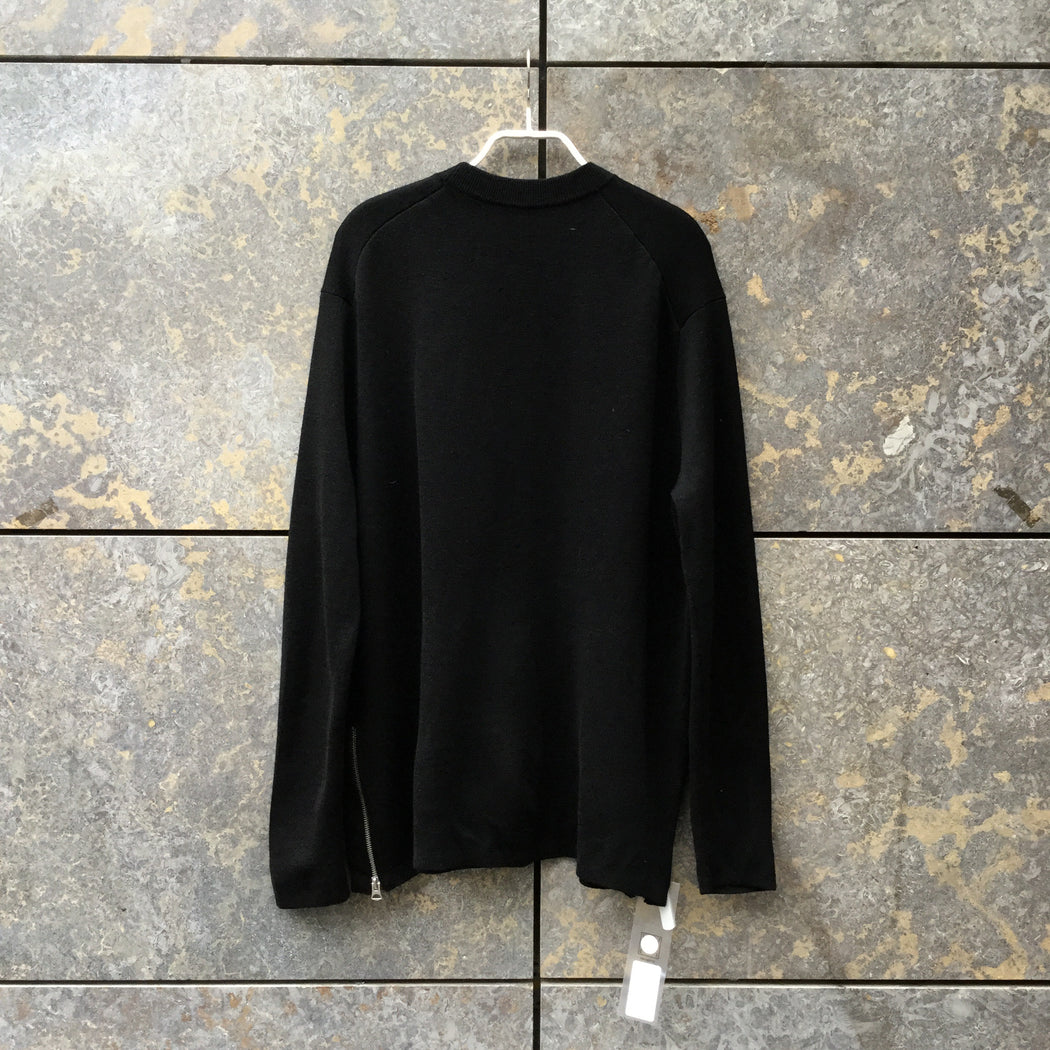 Black Wool Mix Acne Studios ( Mens ) Sweater Zippered Boxy Size S/M
