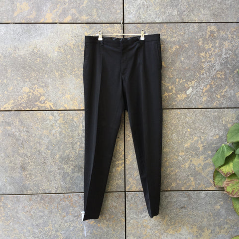 Black Wool Mix Givenchy Trousers  Size 34