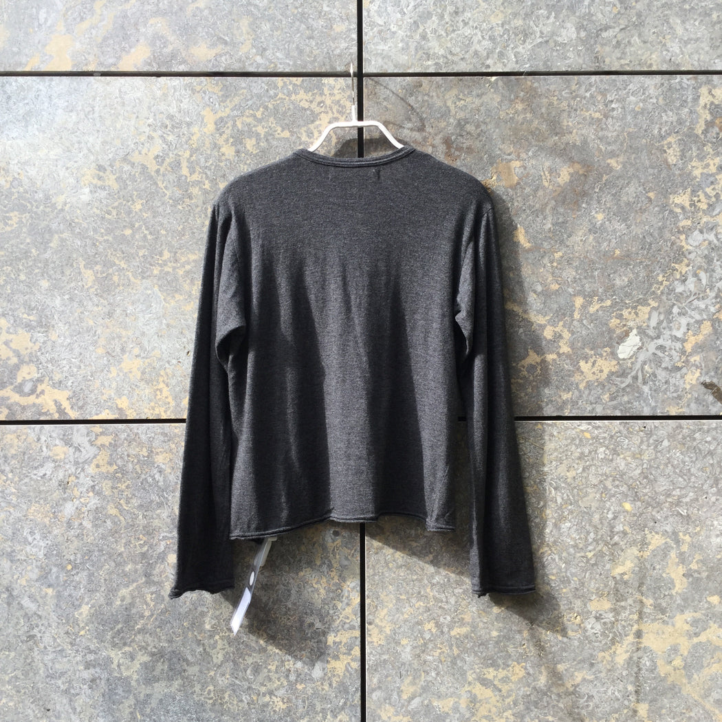 Dark Grey Jersey Comme Des Garcons Light Sweater Bow Detail Size S/M