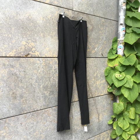 Black Cotton / Poly Mix Hussein Chalayan Trousers Minimalist Detail Size 32/33
