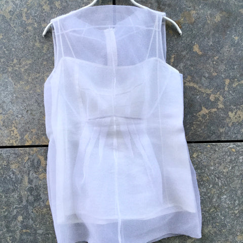 White Cotton / Poly Mix Marc Jacobs Cocktail Dress Layered Size XS/S