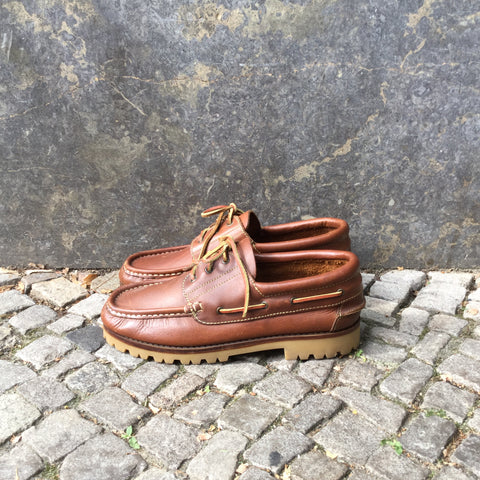 Brown Leather Vintage Loafers  Size 45