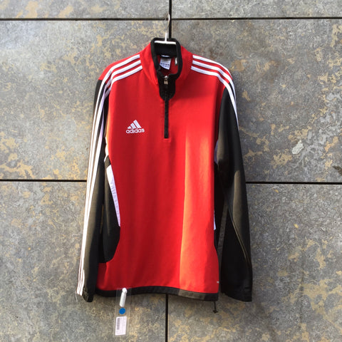 Deep Red-Black Polyamide Adidas Zip Jacket  Size M/L