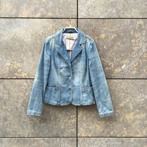 Pale Denim Blue Denim Closed Jeans Jacket  Size M/L