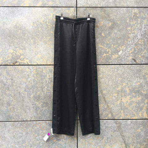 Black Polyamide Samsoe And Samsoe Jogging Pants Button Through Size 30