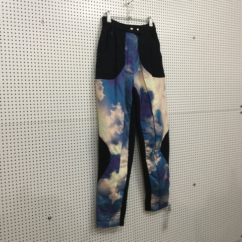 Black-Colorful Wool Mix Independent Trousers Conceptual Detail Size 25/26