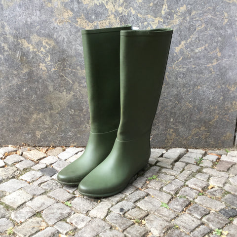 Army Rubber Contemporary Rain Boots  Size 40