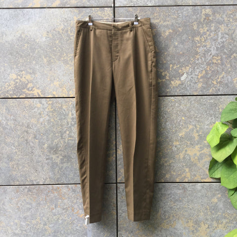 Dark Olive Cotton Mix Independent Designer Suit  Size Xl