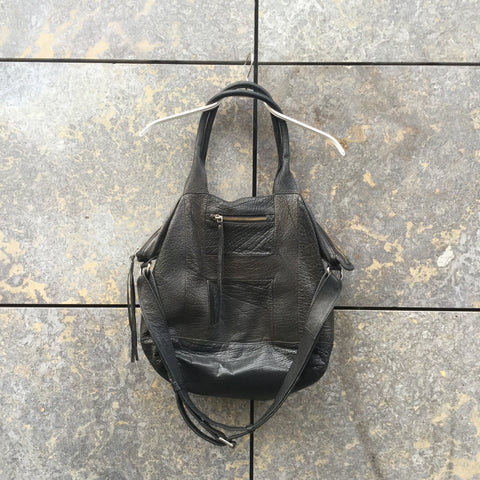Black Leather Hope Shoulder Bag