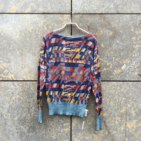 Colorful Polyester Modern Versace Sweater  Size S/M
