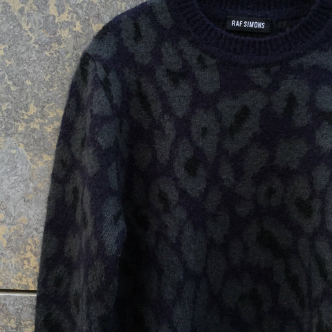 Blue Grey Mohair Mix Raf Simons Sweater  Size M