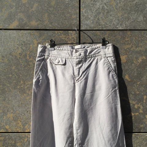 Chalk White Cotton / Poly Mix Marc by Marc Jacobs Trousers Bell Bottom Size 26/27