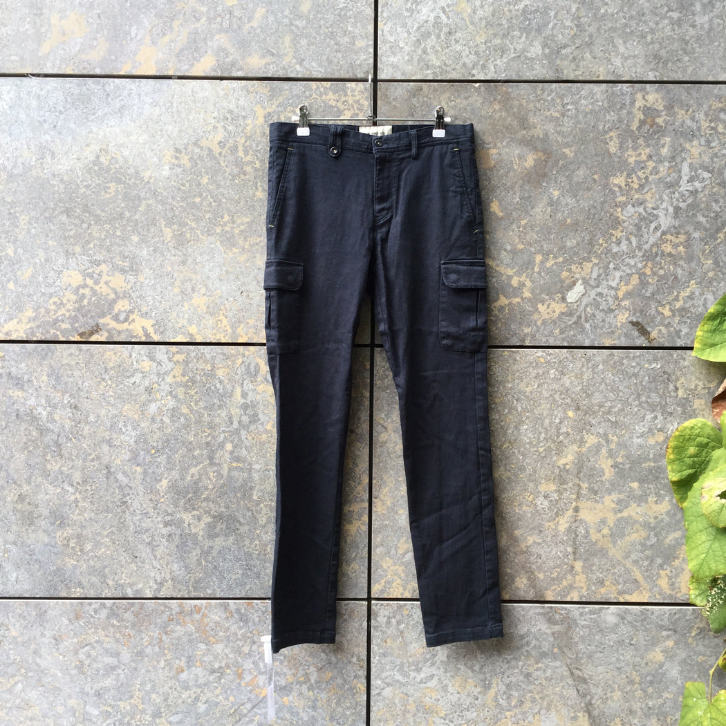Midnight Blue Denim Contemporary Main Jeans Multi Pocket Size 30