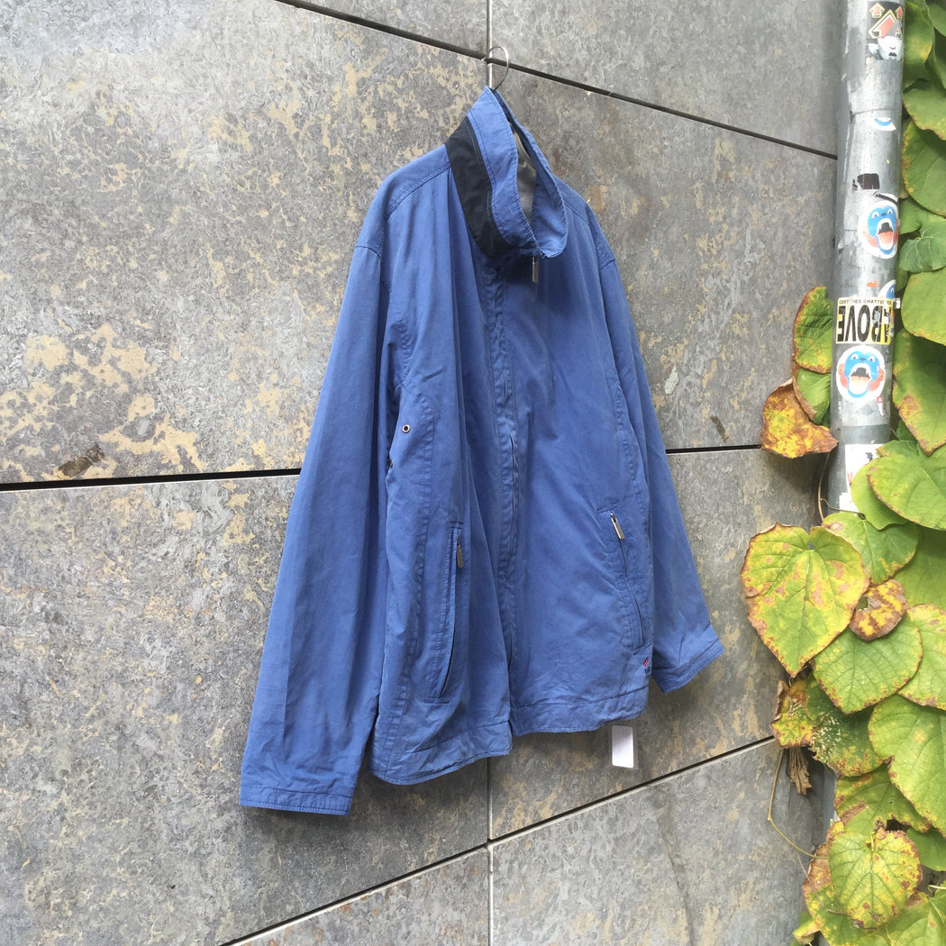 Heather Blue Rayon Mix Vintage Jacket  Size M/L