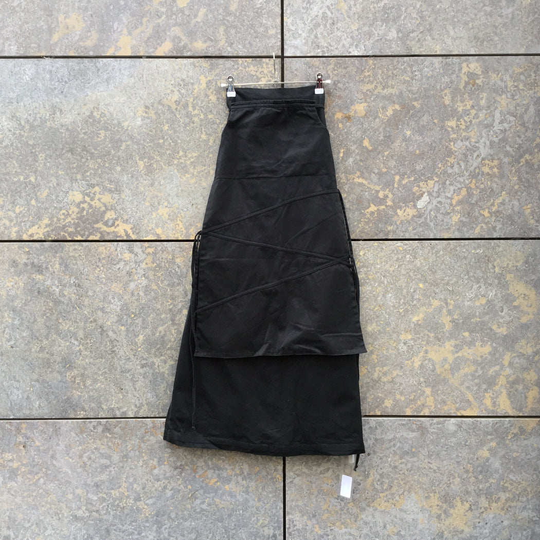 Black Cotton Mix Independent Maxi Skirt Conceptual Detail Size 32/33