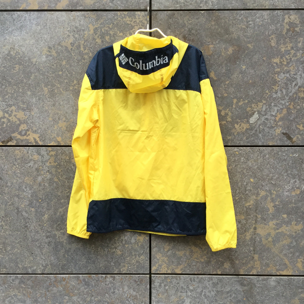 Yellow-Midnight Blue Polyester Modern Columbia Light Anorak Hoody Size M/L