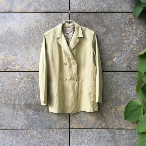Straw Silk Mix Jil Sander Blazer-jacket Double Breasted Size XXL/3XL
