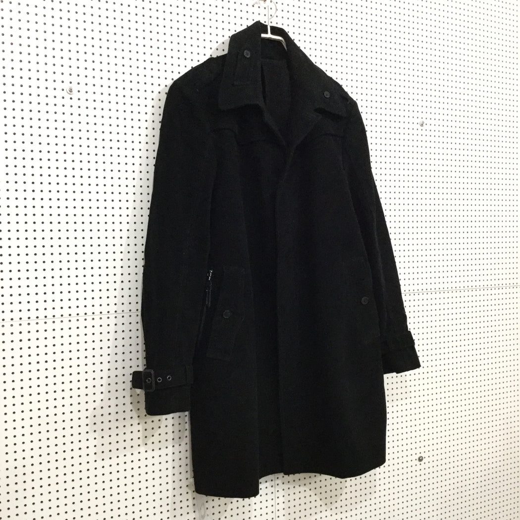 Black Cotton Costume National Trench Coat  Size XL/XXL