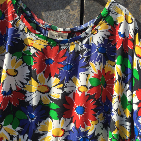 Colorful Rayon Mix American Vintage Dress Oversized Size Os