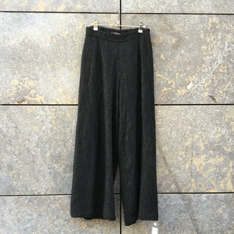 Black Wool Mix Ischiko Culottes Wide Leg Size 28/29