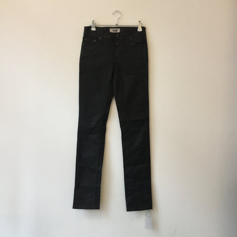 Black Cotton Acne Studio ( Jeans ) Straight Fit Pants Waxed