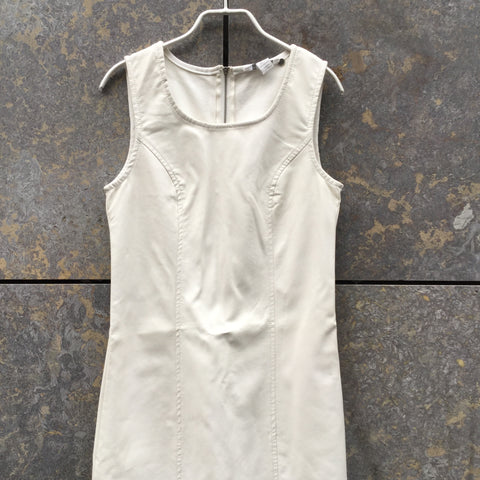 White Faux Nappa Vintage Tank Dress  Size S/M