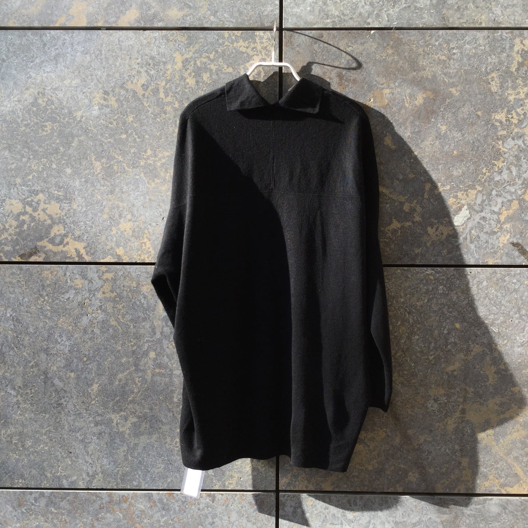 Black Wool COS Sweater Boxy Oversized Size M/L