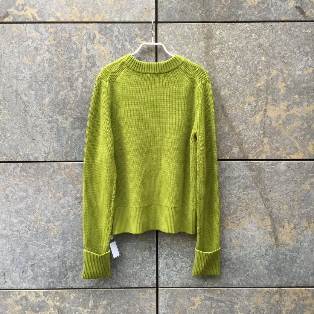 Pea Soup Green Cotton COS Sweater Boxy Size M/L