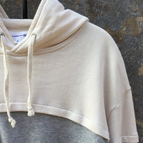Grey-Straw Cotton Comme Des Garcons - Shirt Boys Hoodie  Size S/M