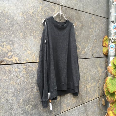 Slate Cotton All Saints Sweatshirt Conceptual Detail Size S/M